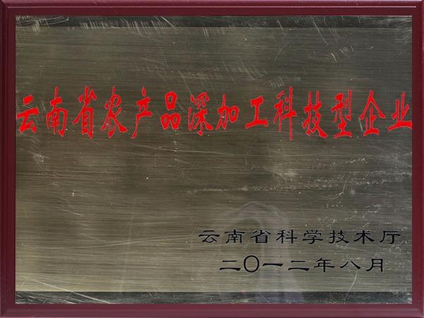 云南省农产品深加工科技型企业